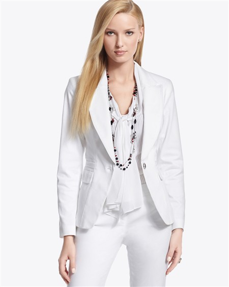 Ladies White Jackets Blazers | Fashion Ql