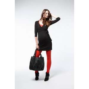 Red Black Dress with Leggings